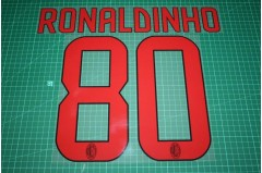 AC Milan 08/09 #80 RONALDINHO Awaykit Nameset Printing