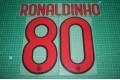 AC Milan 09/10 #80 RONALDINHO Awaykit Nameset Printing