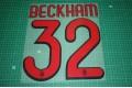 AC Milan 09/10 #32 BECKHAM Awaykit Nameset Printing