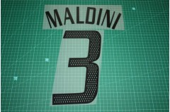 AC Milan 02/04 #3 MALDINI Awaykit Nameset Printing