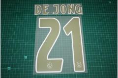 Ajax Amsterdam 18/19 #21 DE JONG Awaykit Nameset Printing