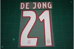 Ajax Amsterdam 18/19 #21 DE JONG Homekit Nameset Printing