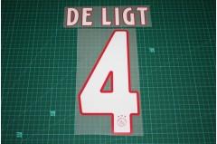 Ajax Amsterdam 18/19 #4 DE LIGT Homekit Nameset Printing