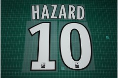 Lille 11/12 #10 HAZARD 3rd Awaykit Nameset Printing