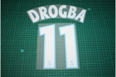 Marseille 03/04 #11 DROGBA Awaykit Nameset Printing