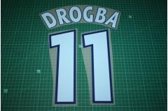 Marseille 03/04 #11 DROGBA UEFA Champions League / UEFA Cup Homekit Nameset Printing