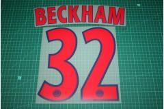 PSG 12/13 #32 BECKHAM Champions League Awaykit Nameset Printing