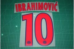 PSG 13/14 #10 IBRAHIMOVIC Champions League Awaykit Nameset Printing