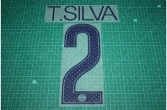 PSG 17/18 #2 T. SILVA UEFA Champions League Awaykit Nameset Printing