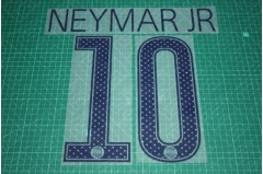PSG 17/18 #10 NEYMAR JR UEFA Champions League Awaykit Nameset Printing