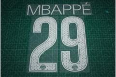 PSG 17/18 #29 MBAPPE UEFA Champions League Homekit Nameset Printing