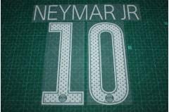 PSG 17/18 #10 NEYMAR JR UEFA Champions League Homekit Nameset Printing