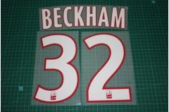 PSG 13/14 #32 BECKHAM Homekit Nameset Printing