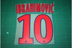 PSG 12/13 #10 IBRAHIMOVIC 3rd Awaykit Nameset Printing
