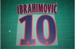 PSG 15/16 #10 IBRAHIMOVIC Awaykit Nameset Printing