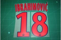 PSG 12/13 #18 IBRAHIMOVIC 3rd Awaykit Nameset Printing