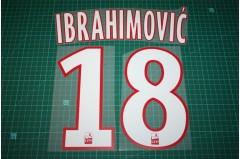 PSG 12/13 #18 IBRAHIMOVIC Homekit / Awaykit Nameset Printing