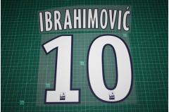 PSG 15/16 #10 IBRAHIMOVIC 3rd Awaykit Nameset Printing