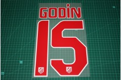 Atletico Madrid 10/11 #15 GODIN Awaykit Nameset Printing