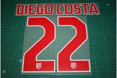 Atletico Madrid 10/11 #22 DIEGO COSTA Awaykit Nameset Printing