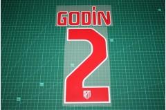 Atletico Madrid 11/12 #2 GODIN Awaykit Nameset Printing