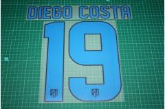 Atletico Madrid 12/13 #19 DIEGO COSTA Homekit Nameset Printing