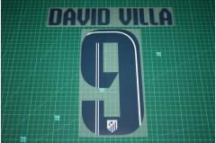 Atletico Madrid 13/14 #9 DAVID VILLA Awaykit Nameset Printing