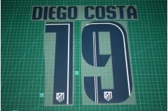 Atletico Madrid 13/14 #19 DIEGO COSTA Awaykit Nameset Printing
