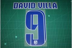 Atletico Madrid 13/14 #9 DAVID VILLA Homekit Nameset Printing