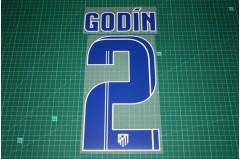 Atletico Madrid 13/14 #2 GODIN Homekit Nameset Printing