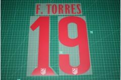 Atletico Madrid 14/15 #19 F. TORRES Awaykit Nameset Printing