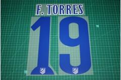 Atletico Madrid 14/15 #19 F. TORRES Homekit Nameset Printing