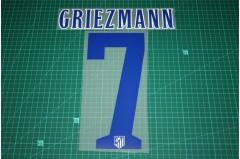 Atletico Madrid 14/15 #7 GRIEZMANN Homekit Nameset Printing