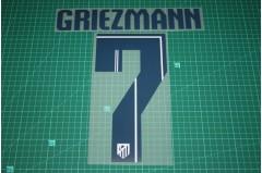 Atletico Madrid 14/15 #7 GRIEZMANN 3rd Awaykit Nameset Printing
