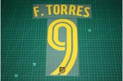 Atletico Madrid 16/17 #9 F. TORRES Awaykit Nameset Printing