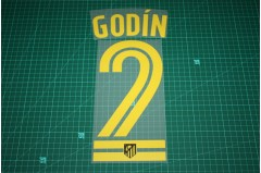 Atletico Madrid 16/17 #2 GODIN Awaykit Nameset Printing