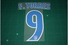 Atletico Madrid 16/17 #9 F. TORRES Homekit Nameset Printing