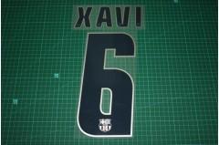Barcelona 04/05 #6 XAVI 3rd Awaykit Nameset Printing