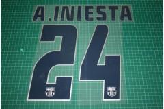 Barcelona 04/05 #24 A. INIESTA 3rd Awaykit Nameset Printing