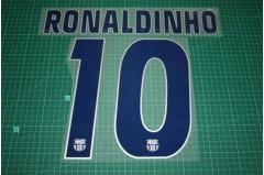 Barcelona 04/05 #10 RONALDINHO 3rd Awaykit  Nameset Printing