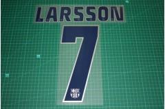 Barcelona 04/05 #7 LARSSON 3rd Awaykit Nameset Printing