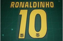 Barcelona 04/06 Homekit / 04/05 Awaykit #10 RONALDINHO Nameset Printing