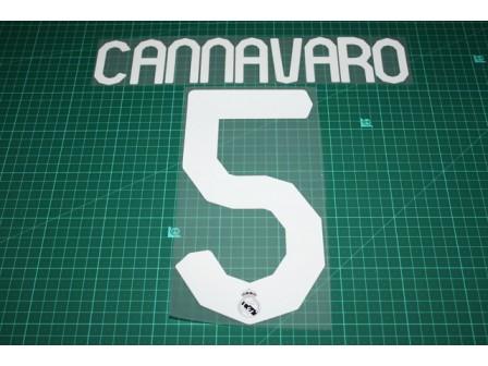Real Madrid 07/08 #5 CANNAVARO Awaykit / 3rd Awaykit Nameset Printing