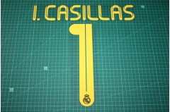Real Madrid 11/12 #1 I.CASILLAS Awaykit Nameset Printing