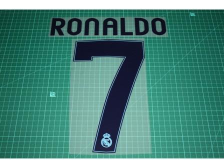 Real Madrid 12/13 #7 RONALDO UEFA Champions League Homekit Nameset Printing