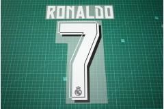 Real Madrid 15/16 #7 RONALDO Awaykit / 3rd Awaykit Nameset Printing