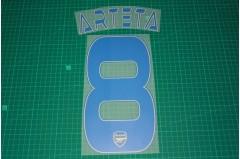 Arsenal 13/14 #8 ARTETA 3rd AwayKit Nameset Printing
