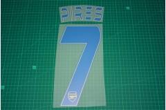 Arsenal Legend 13/14 #7 PIRES 3rd AwayKit Nameset Printing