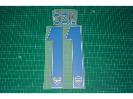 Arsenal 13/14 #11 OZIL 3rd AwayKit Nameset Printing