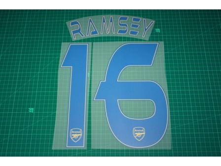 Arsenal 13/14 #16 RAMSEY 3rd AwayKit Nameset Printing